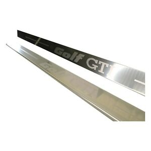 Steel Door Sill Scuff Plate Step Protector Entry Guard For Golf Gti 2 Door 2pc