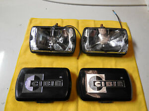 Cibie Type 35 Driving Lamps Genuine New W Rare Black Covers Switch Relay Kit