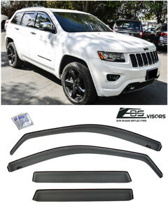 For 2011 up Jeep Grand Cherokee In channel Smoke Tinted Side Vents Rain Guards