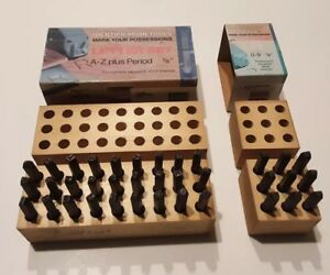 Young Bros Stamp Works 1 8 Tall Letter And Number Set Steel Punches A z 0 9