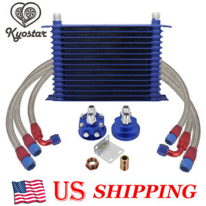 Universal Engine Transmission 10an 15 row Trust Type Oil Cooler Relocation Kit