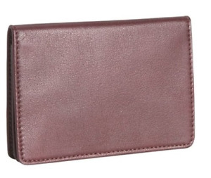 Royce Leather Men s Business Card Case One Size Burgundy