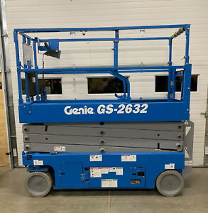 2018 Genie Gs 2632 Electric Scissor Lift Boom 26 Lift