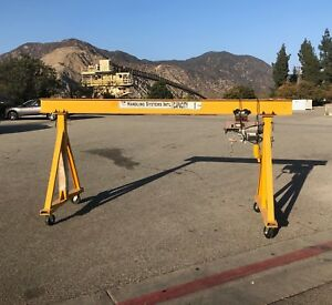 2000 Lb Minisize Electric Rope Hoist With Frame
