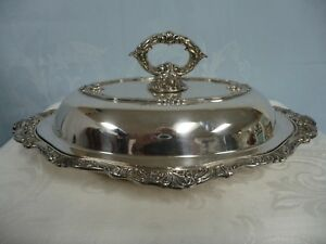 Lovely Baroque By Wallace Silver Plate Covered Casserole