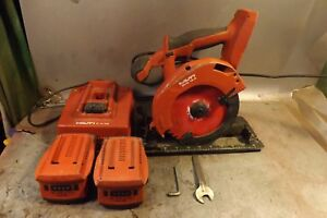 Hilti Model scw 18 a Cordless 18v Circular Saw With 2 Batteries And Charger
