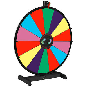 24 Prize Wheel Editable Stand Fortune Spinning Game Tabletop Color Dry Erase