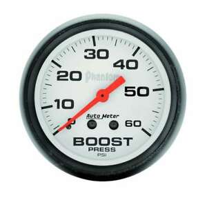 Auto Meter 2in Phantom Boost Gauge 0 60psi