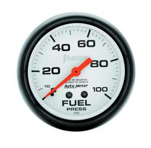 Auto Meter 2 5 8in Phantom Fuel Press Gauge 0 100psi