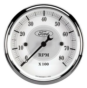 Auto Meter Ford Racing Tach 3 1 8 In Dach White Face