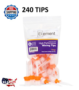 Element 240 Hp Orange Mixing Tips Dental 10 1 Crown Bridge Temp Material