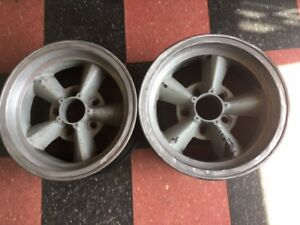 Pair 2 Of Original Et Torque Thrust Wheels 14 X7 With 5 On 4 3 4 Bolt Circle