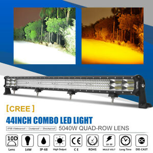 Quad Row 44inch 5040w Cree Led Light Bar Combo Work Offroad Driving 4wd Ute Atv
