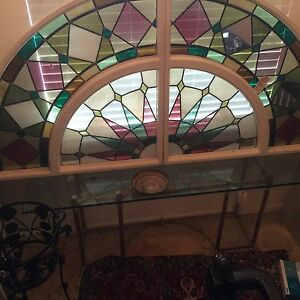 Large Arch Top Stained Glass Window