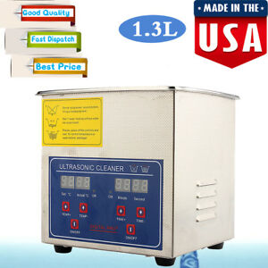 1 3l Digital Ultrasonic Cleaner Cleaning Bath Jewelry Eyeglasses Dental Parts