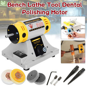 350w Polishing Machine Cloth Wheel For Bench Lathe Tool Dental Polishing Motor