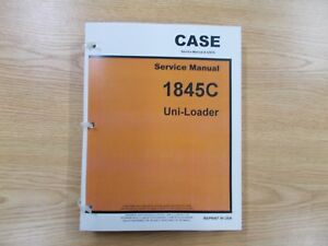 Case Service Manual 1845c Uni loader For Skid Steer With Diesel Engine New