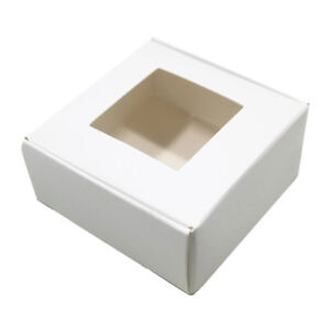 White Window Kraft Paper Box Multi size Candy Jewelry Wedding Gift Package Boxes