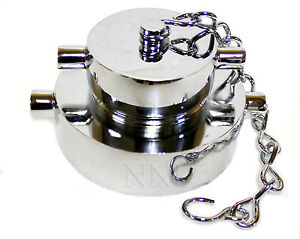 2 1 2 X 1 1 2 Nst Fire Hose hydrant Adapter With Cap Chain Polished Chrome