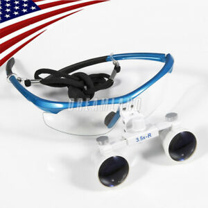 Usa Dental Surgical Medical Binocular Loupes Glasses 3 5x420mm Black W3
