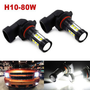 9140 9145 H10 Led Fog Light Bulbs For 03 06 Gmc Sierra 1500 2500 Hd 6000k Lamp