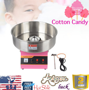 Et mf03 Electric Commercial Cotton Candy Machine Sweets Suger Floss Maker Pink