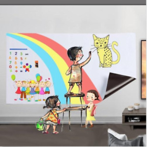 Frameless Wall Dry Erase Magnetic Whiteboard Sheets For Kids Easel Drawing