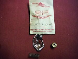 1953 55 Packard Trunk Lock Emblem Kit 436719 Nos