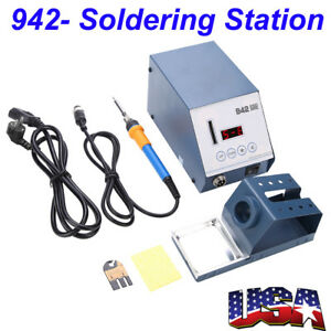 Esd 942 110v Smd Brushless Heat Gun Soldering Iron Station W Stand Anti static