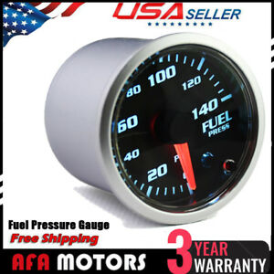 2 52mm Electronic Fuel Pressure 0 140psi Gauge 7 Color Led Meter