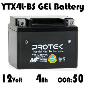 YTX4L-BS YB4L-A YB4L-B YTZ5S Motorcycle Dirt Bike ATV 12V 4Ah Sealed GEL Battery