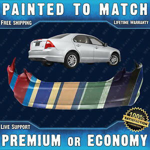 New Painted To Match Rear Bumper Replacement For 2010 2011 2012 Ford Fusion