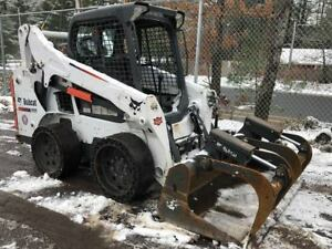 2015 Bobcat S570 Skid Steer Loader Grapple Bucket Demo Tires