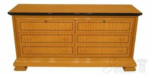 F30396ec Biedermeier Style Satinwood 6 Drawer Double Dresser
