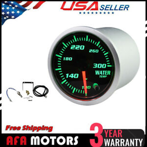 Universal 2 52mm Water Temperature Gauge Digital 7 color Led Display Car Meter