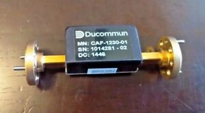 Ducommun Caf 1230 01 Fixed Attenuator 30 Db 60 To 90 Ghz