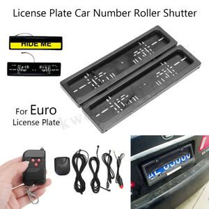 Euro Hide Device Stealth Shutter License Plate Car Number Roller Protect
