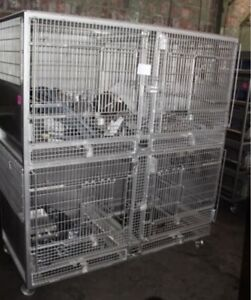 Allentown Puppy Pet Shop Primate Housing Cage Stainless Steel Mobile 2 Over 2