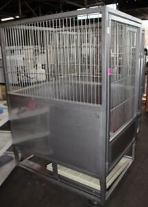 Allentown Large Caging Equipment Stainless Steel Primate Cage 52x39x77