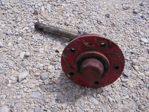 International Cub Low Boy Tractor Front L Ih Hub Spindle And Shaft