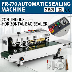 Automatic Fr 770 Continuous Band Sealing Machine Horizontal Bag Sealer Brand New