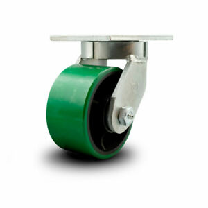 Scc 6 Hd Green Poly On Metal Wheel swivel Caster W swivel Lock 2000 Lbs caster