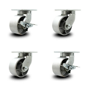 Scc 6 Heavy Duty Semi Steel Caster Set 2 Swivel W swivel Lock 2 Swivel W brake