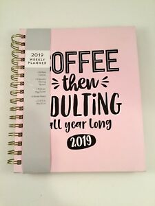 Eccolo Calendar Weekly Monthly Planner Agenda 2019 Student coffee Then Adulting