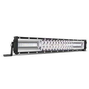 1680w 22inch Cree Tri row Amber White Led Work Light Bar Spot Flood Suv Atv 24
