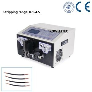 Lcd Computer Double Coaxial Wire Peeling Stripping Cutting Machine Swt508 tz U