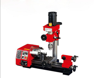 M1 250mm Micro Multi function Machine Drilling And Milling Lathe Machine 220v U