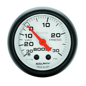 Auto Meter Phantom 52mm 30 Psi Mechanical Boost Gauge