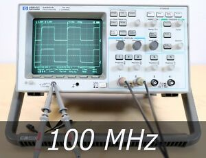 Hp Agilent 54601a 4 channel 100 Mhz Oscilloscope 2 New Probes Very Clean