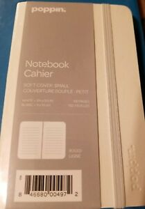 New Poppin Soft Cover Notebook Small 3 1 2 X 5 1 2 In White Work Happy 192 Page